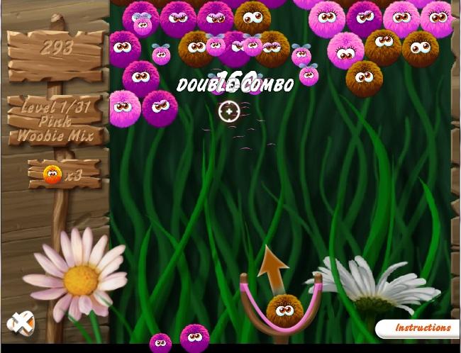 Онлайн игра Пухкави топки Лесна Woobies Leicht