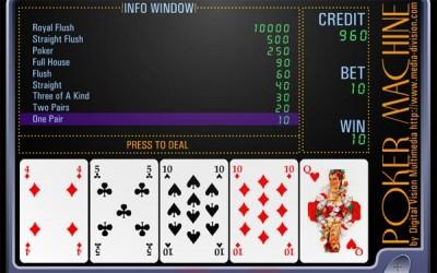 Онлайн игра Покер машинка