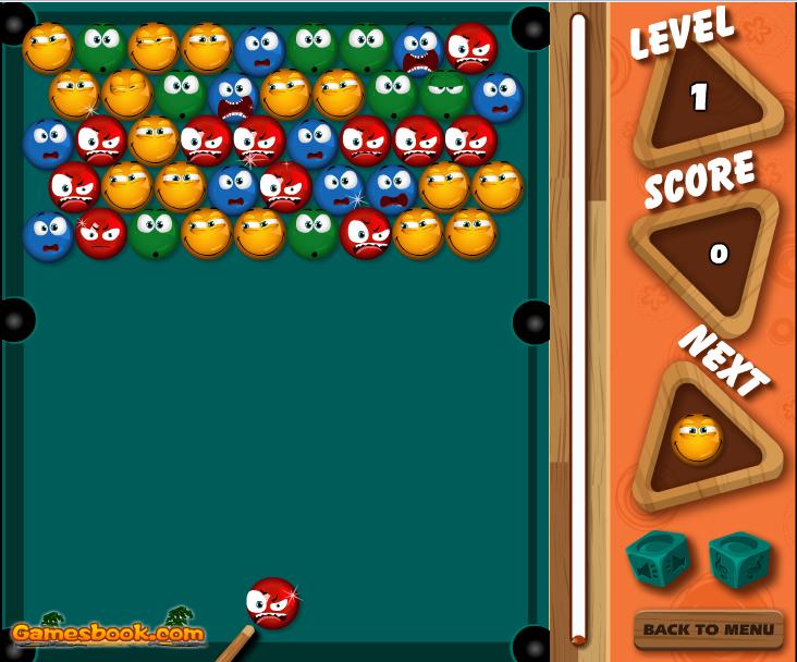 Онлайн игра Билярд зума балони