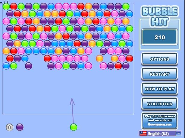 Онлайн игра Удари балоните Bubble Hit