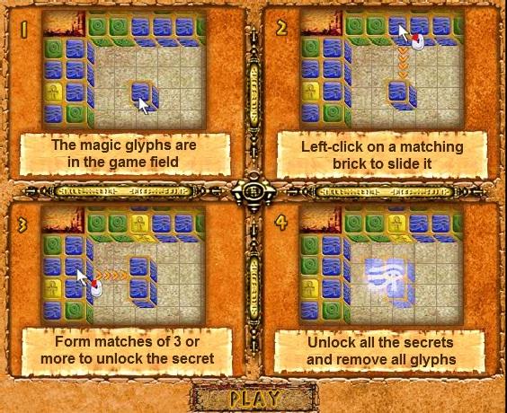 Онлайн игра Египетски пъзел 2